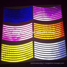 mode coloré Glow dans le noir vélo réflecteur roue jante autocollant