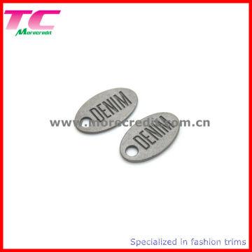 Tag de marque en métal gravé personnalisé