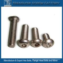 Tornillos de cabeza hexagonal del botón del zócalo del acero inoxidable DIN7380
