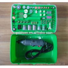 135w 217pcs ETL GS CE Ensemble d'accessoires pour outils rotatifs à main portable Hobby Power Mini broyeur électrique