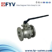 ISO 9001 2 peças de aço inoxidável válvula de esfera flutuante