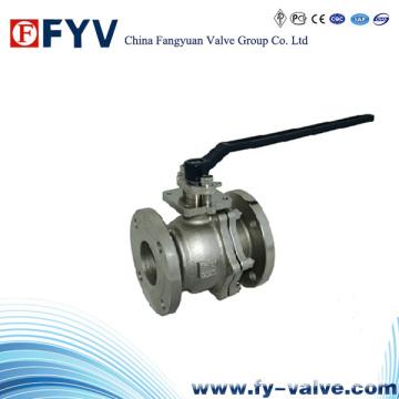 ISO 9001 Válvula de bola flotante de acero inoxidable de 2 piezas