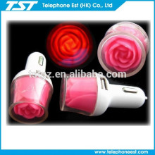 The best seller 2.1 A 2 port USB rose Car Charger for smart phone and ipad