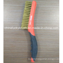 Two Colour Plastic Handle Brass Wire Multifuctional Brush (YY-540)