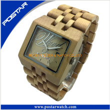 2016 New Waterproof Natural Wood Watch with Japanese Movement