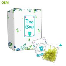 Sachets de thé en nylon de coin d'OEM quatre / sachet de thé de filtre
