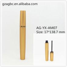 Elegante & vazio alumínio redondo tubo de rímel AG-YX-AM07, embalagens de cosméticos do AGPM, cores/logotipo personalizado