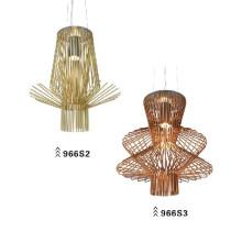 Lámpara colgante de acero de carbono de color de alta calidad (966S2)
