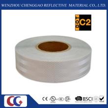 Cinta de seguridad reflectante blanca sólida de consistencia de diamante (CG5700-OW)