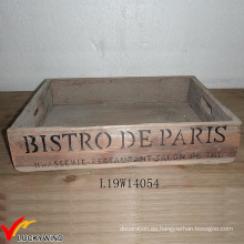 Servicio decorativo de la casa Retro Brown Old Tray