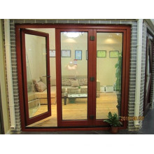 Most Popular Wooden Grain Finished Aluminum Casement Door