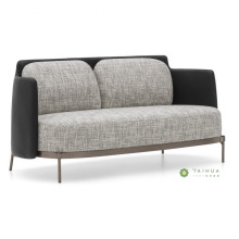 Metal Frame Fabric Sofa With Double Seater