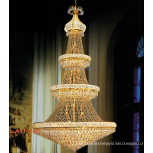 Big luxury hotel lobby chandelier in dubai