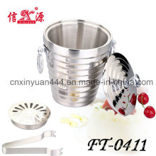Stainless Steel Ice Bucket with Tongs (FT-0411)