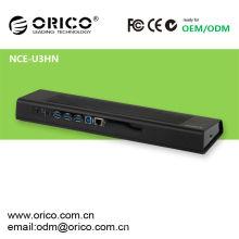 ORICO NCE-U3HN Station d'accueil pour ordinateur portable multifonction avec interface USB3.0, bloc de refroidissement pour ordinateur portable