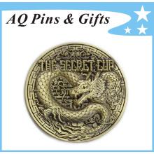 Grabado 3D Metal Antique Bronce Recuerdo Pin insignia (badge-146)