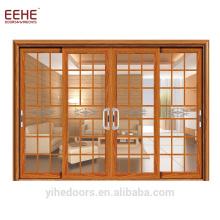 Гостиная модный дизайн внутреннее положение алюминиевая раздвижная дверь с автоматическим раздвижным стеклом