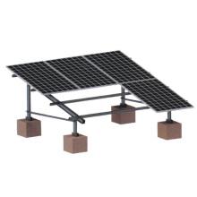 suportes para painéis solares de alumínio no solo e telhado plano