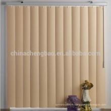 Vente chaude de porte fenêtre aveugle, store en tissu noir stores verticaux en gros