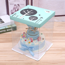 Plastic+cake+box+transparent+box