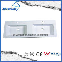 Polymarble Top Bathroom Countertop Wash Basin