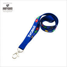 Blue Sublimation Printing Lanyard with Metal Hook