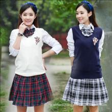 OEM Manufacturer 100% Cotton Girls School Uniform
