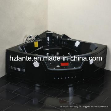 Hochwertige Massage-Badewanne mit schwarzer Farbe (TLP-632 Schwarz)
