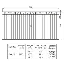 Sección de aluminio de la cerca negra de Gargen