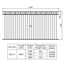 Aluminum Black Gargen Fence Section