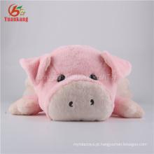 Brinquedo do luxuoso do animal enchido do brinquedo do porco do sono do ODM 54cm para crianças