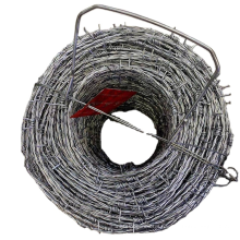 Protective alloy net durable steel barbed wire flat long steel wire