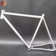 Quadro de bicicleta de estrada de titânio 58cm54cm fabricado na China