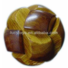 Wooden soccer ball 3d wooden puzzle