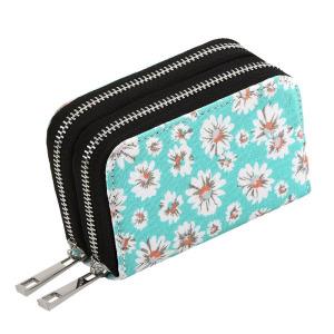 Mini Canvas Zipper Security Credit Card Wallets