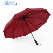 Sorteos telescópicos automáticos de grado superior para señoras Eólico plegable a prueba de viento Fácil cierre abierto automático para paraguas con logotipo