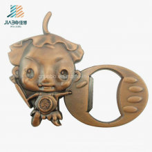 China Wholesale Alloy Weddging Gift Bronze Metal Bottle Opener for Promotional