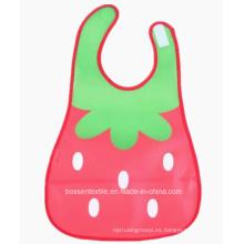 El logotipo por encargo promocional imprimió el babero del bebé del Drooler de la impresión de Strawbeingerry de las muchachas de la historieta