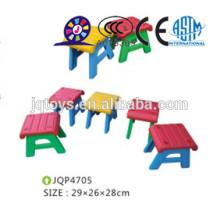 Cadeiras de plástico para crianças duráveis e coloridas