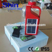 Decorativo 2015 lâmpada de mão de emergência manivela solar camping camping luz