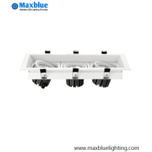 3X20W Recessed LED Ceiling Grille Down Light Lamp