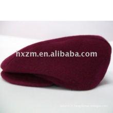 Chapeau rouge / chapeau béret en 100% coton