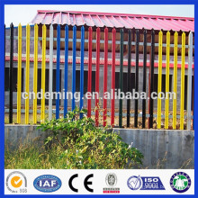 factory price & high quality galvanized palisade, Euro fence, PVC coated steel palisade fence