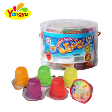 Pvc Jar Mix Fruits Flavors Mini Jelly Cup Factory