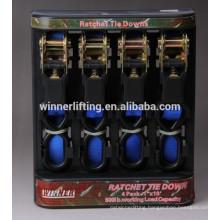 Direct Manufacturer Binding 4pcs 25mm Ratchet straps
