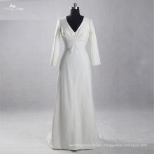 LZ164 manga larga una línea de diseñador especial de vestidos de la tela Mujeres Elegante