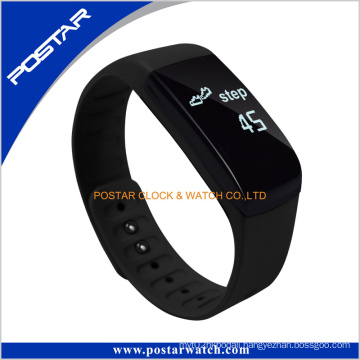 Silicone Band Smart Bracelet Watch with Heart Rate