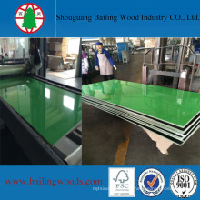 Tablero del MDF de la melamina ULTRAVIOLETA del alto color verde brillante del color