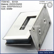 square bevel 90 degree shower door pivot hinge