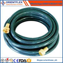 Manguera de jardín flexible de PVC trenzada de la fibra / manguera de agua